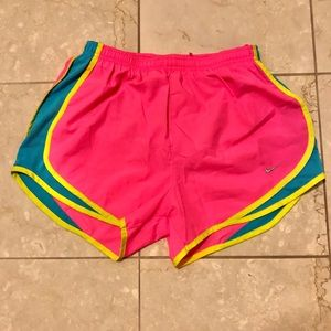 Neon Nike Dri-fit lined shorts